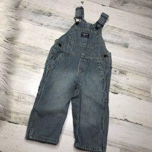 Oshkosh pinstripe blue white overalls size 12M